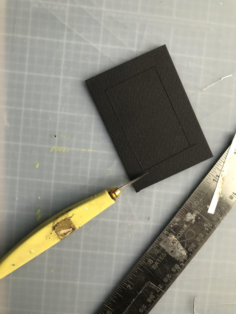 Once the Paint Has Dried, Cut the Black Frame
