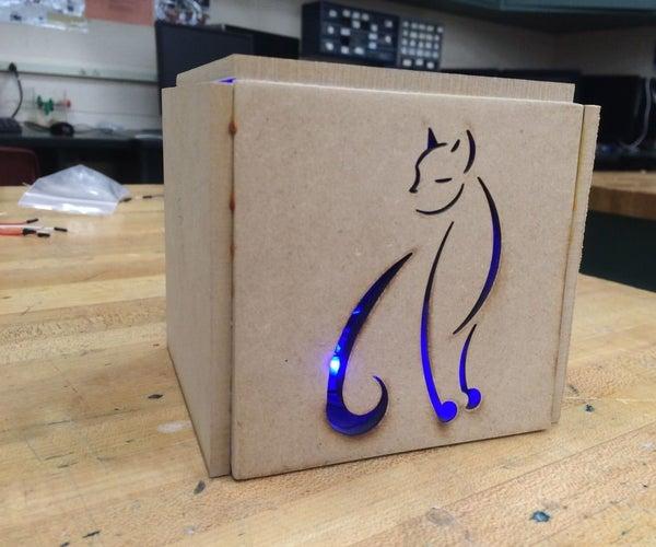 Light Up Cat Decor