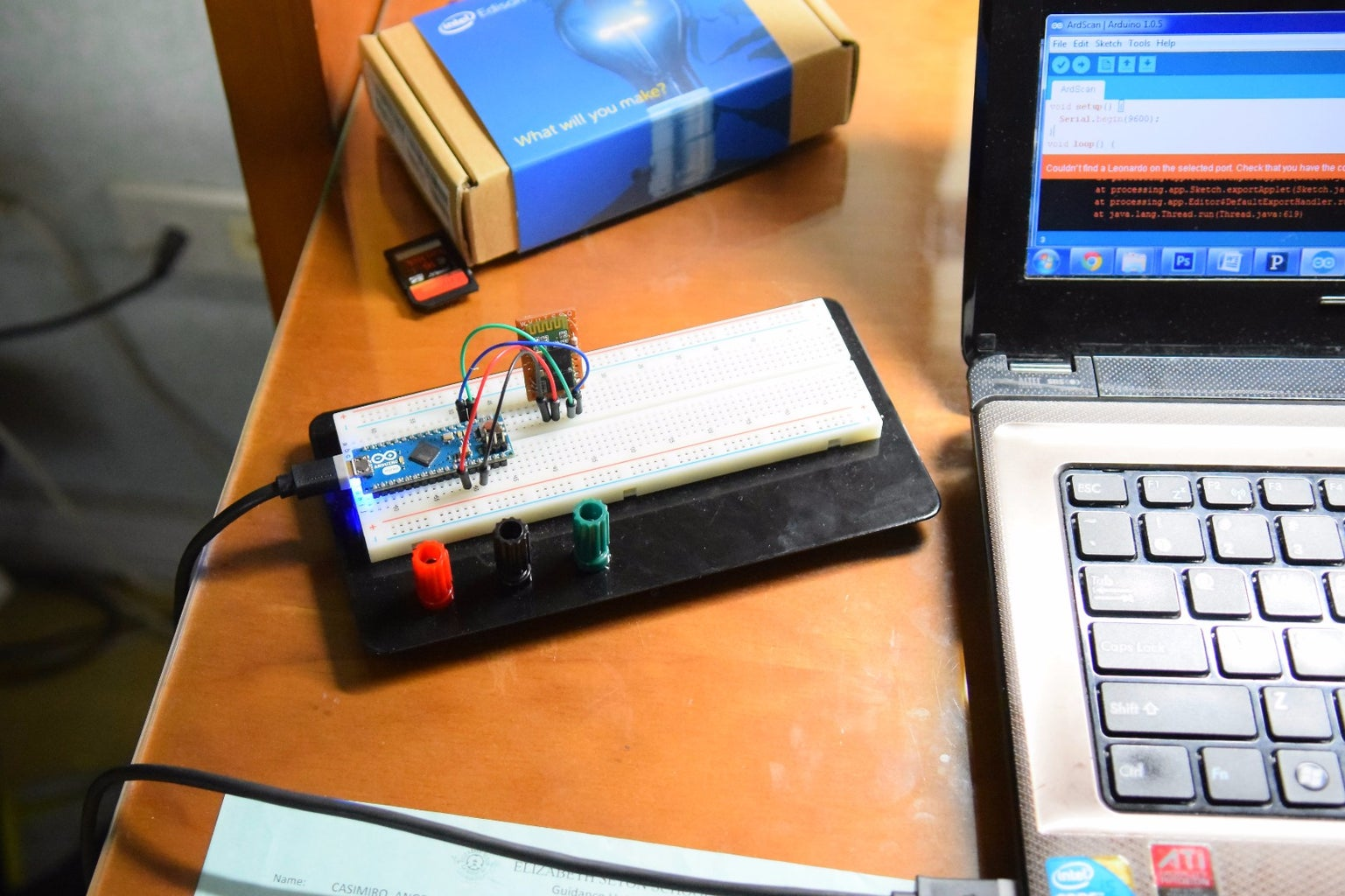 Testing a Slave to Master Bluetooth Communication