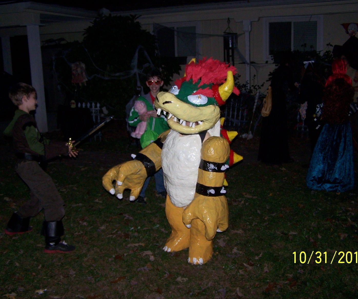 Paper Bowser Costumefor Halloween
