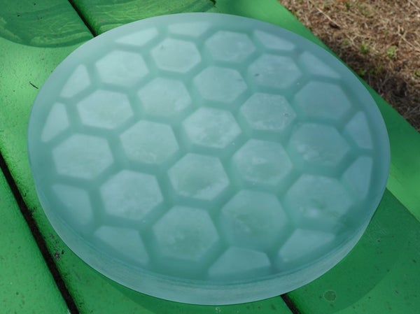 Casting a Large, Light-Weight Telescope Mirror From Recycled Glass