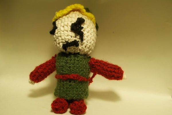 Crocheted Link From the Legend of Zelda Ocarina of Time