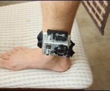 GoPro Mounting Tips   Vented Helmet Strap on Ankle