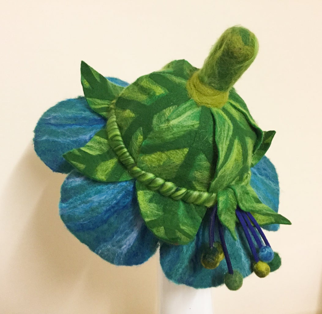 Felted Flower Hat