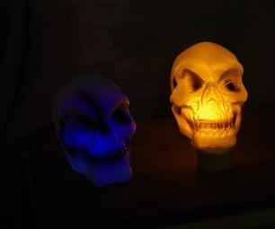 Cheap and Easy Light Up Skull Hallowe'en Hack