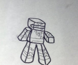 How to Draw Minecraft Players the Crafthead Style
