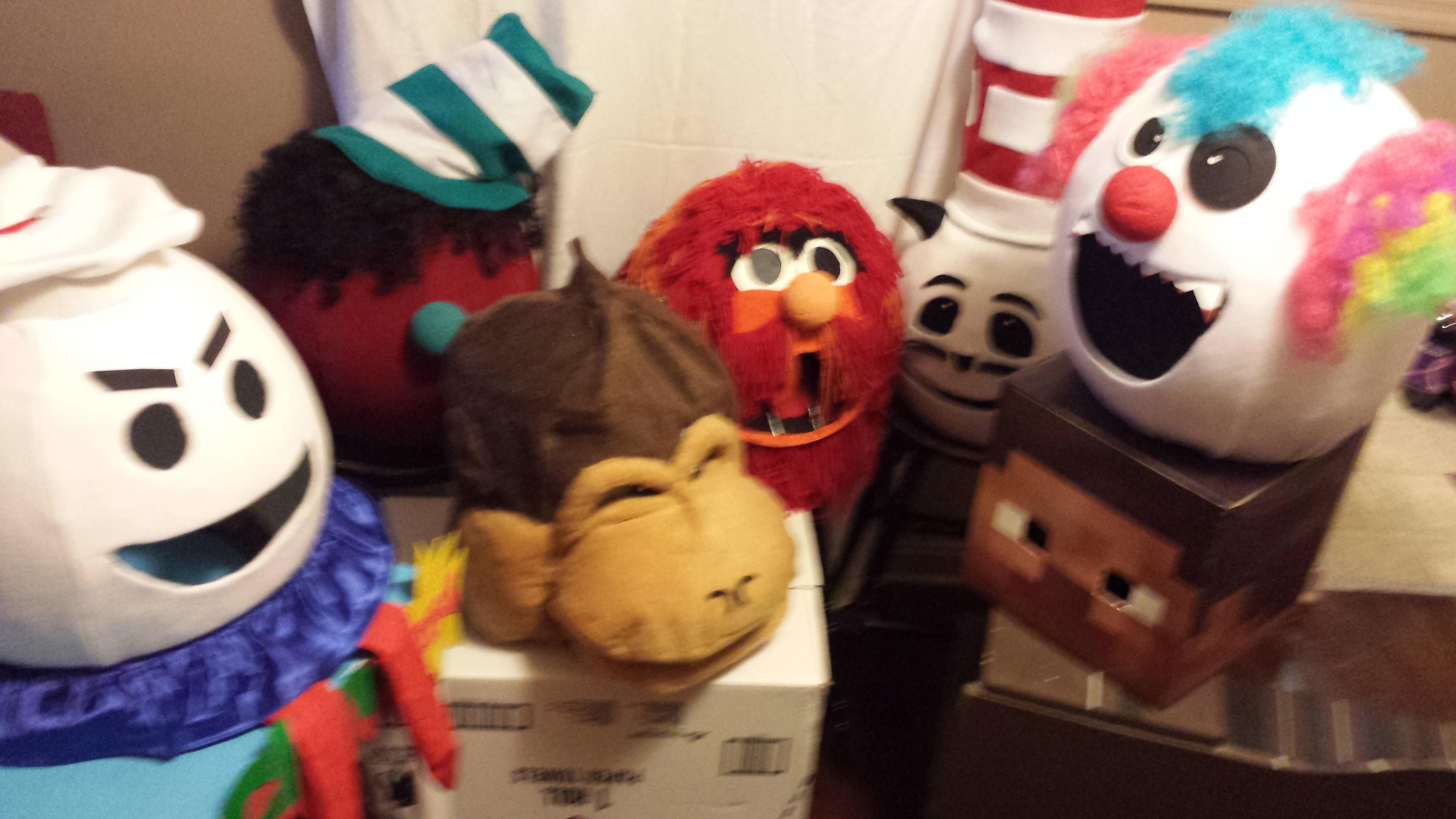DIY Mascot Halloween Costume Masks