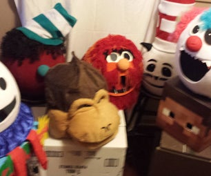 DIY Mascot Halloween Costume Masks