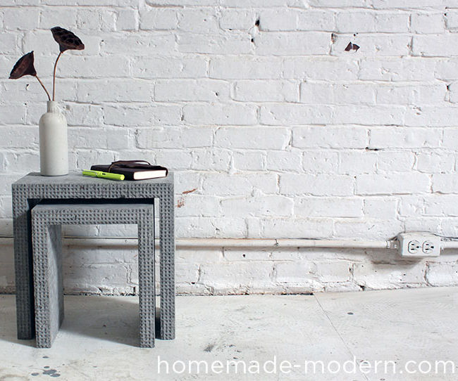 HomeMade Modern DIY Concrete Nesting Tables