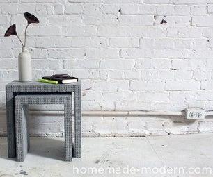 HomeMade Modern DIY Concrete Nesting Tables