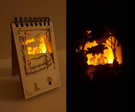 Make a Shadow Box Out of Your Notebook