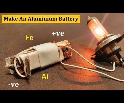 How to Make a 5V Aluminium Battery at Home DIY
