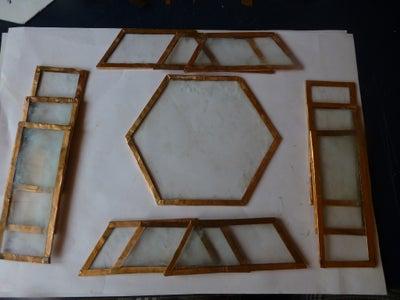 Fold Copper Foil Over Glass Edge