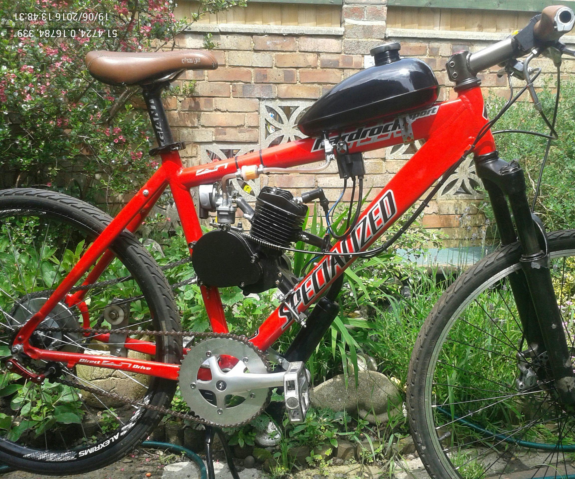 80cc 2 stroke motorized bicycle kit my notes