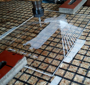 Cutting the Height Map on Acrylic Sheet