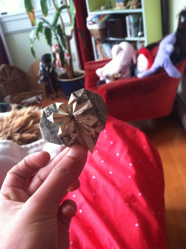 Heart Origami With a Dollar and a Quarter