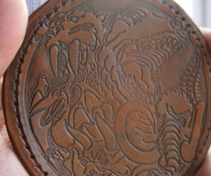 """Make a Custom Leather Crest Using 3D Printing (large Size 4"""")"""