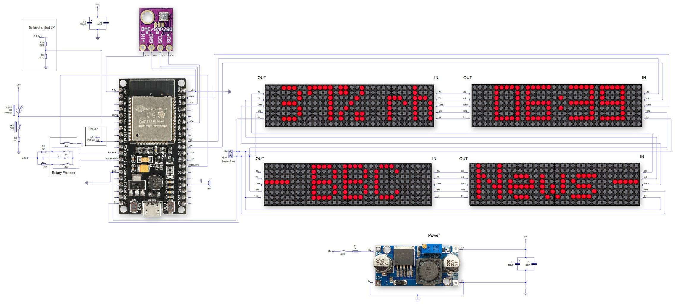 Schematic ESP32 38 Pin