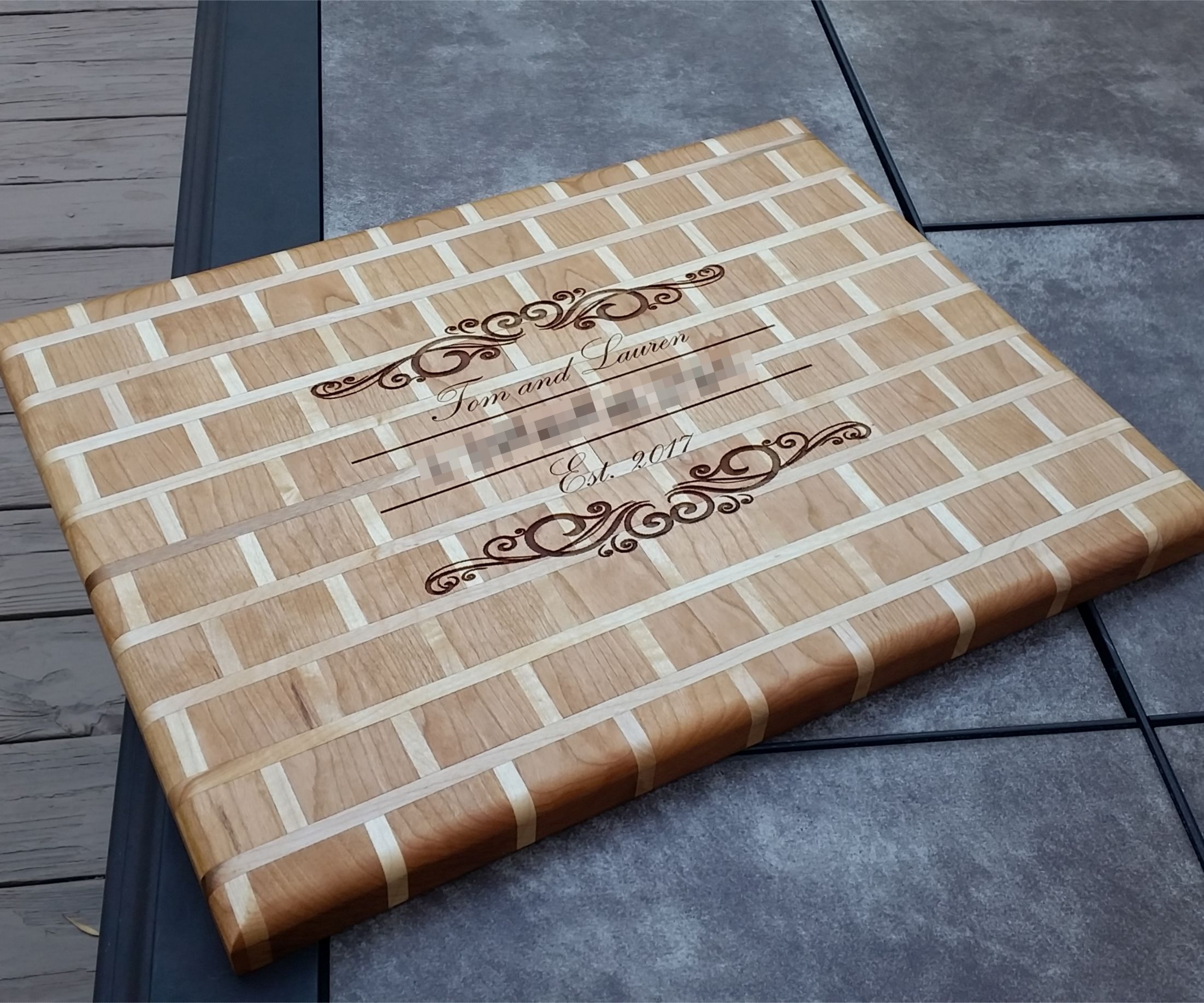 Brick and Motar Cutting Board