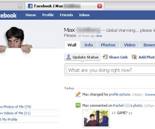 Popup Facebook Picture