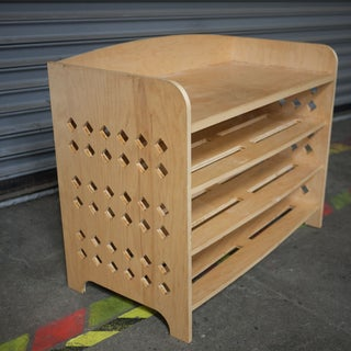 Shoe Bench Made With CNC Router and Laser