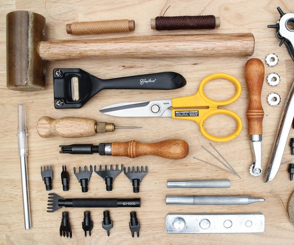 Tools and Supplies for Intermediate Leatherwork