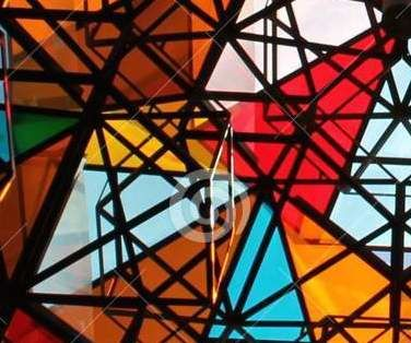 Invisible Art: Mosaics, Polarized Light, and 3D Glasses