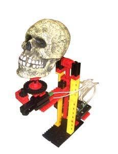 Rising and Spinning Halloween Skull