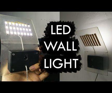Simple $4 Minimalist LED Wall Light