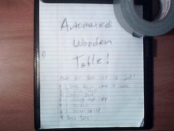 Automated Wooden Table
