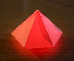 Tilt Switch Activated, Glowing Paper Model, LED Light
