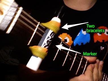 Cheap, easy guitar capo