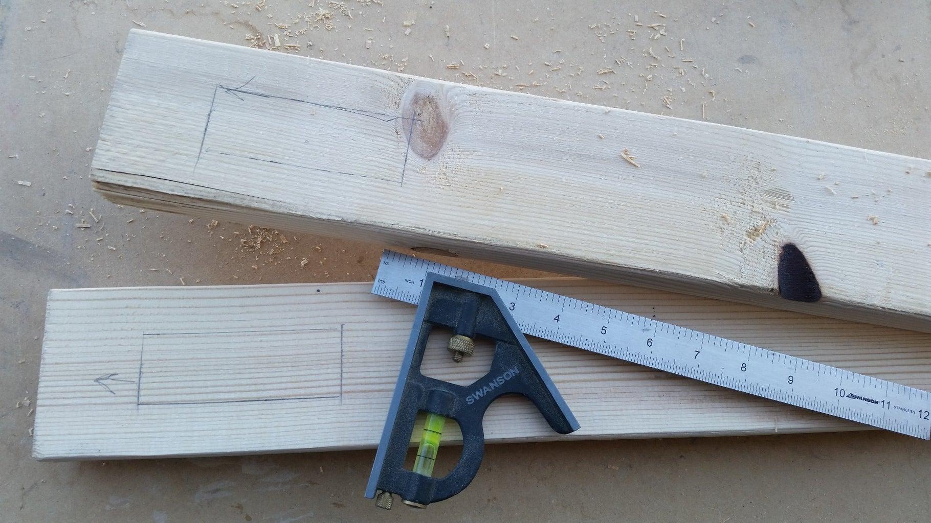 Cut Crossmember Slots in Uprights