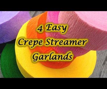 4 Crepe Streamer Garland