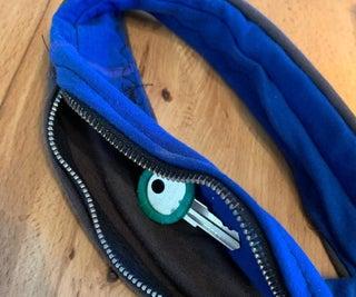 Hidden Key in Zippered Headband