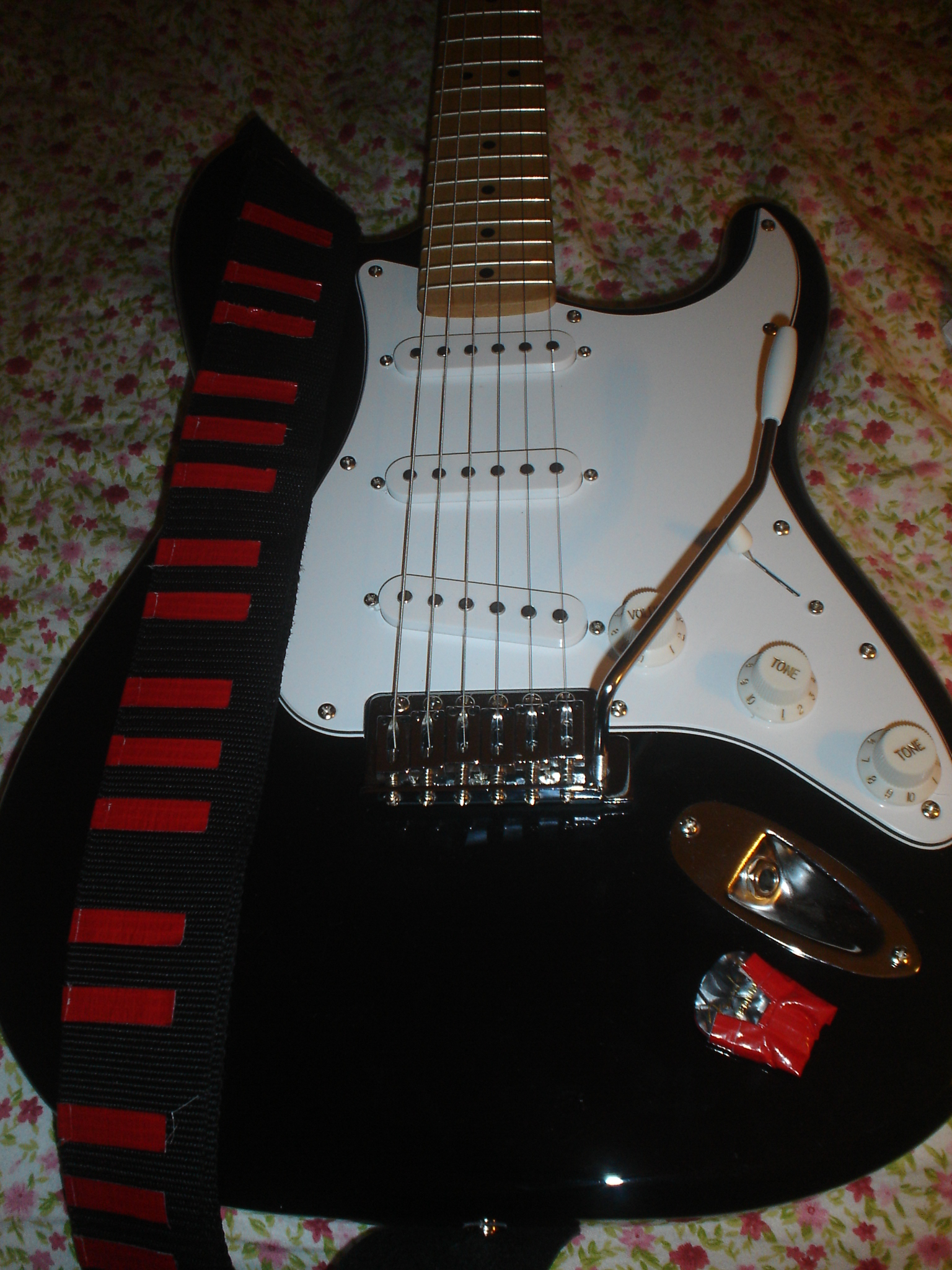 Stick-on Duct Tape Guitar Pick Holder