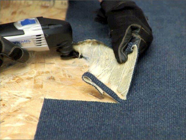Removing Glued Down Carpet