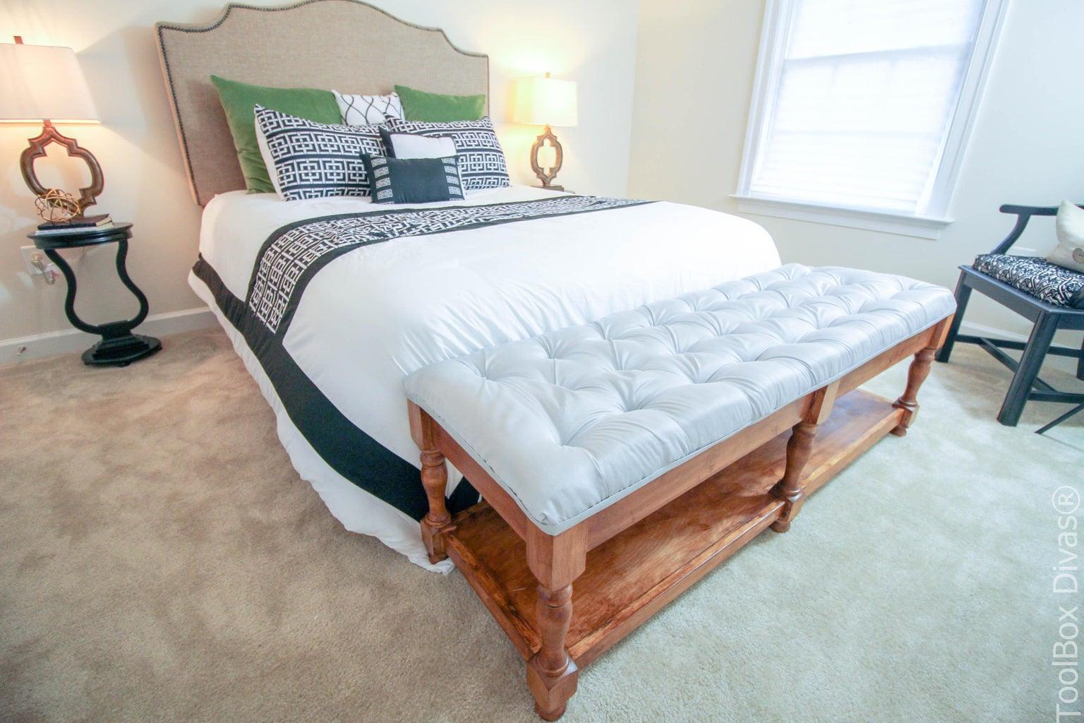 Elegant DIY Tufted Bench