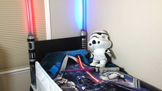 Attach Lightsabers and Connecting Board