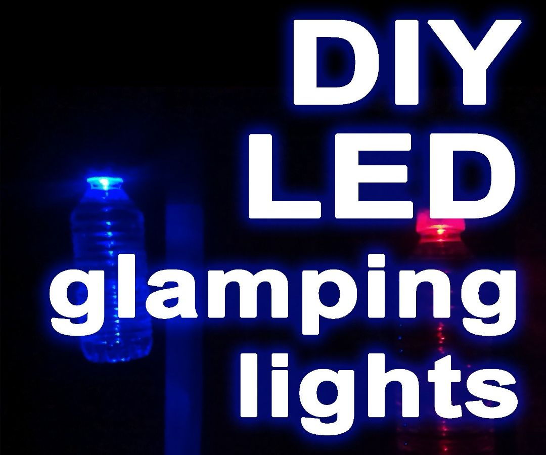 Lightweight LED bottle lights