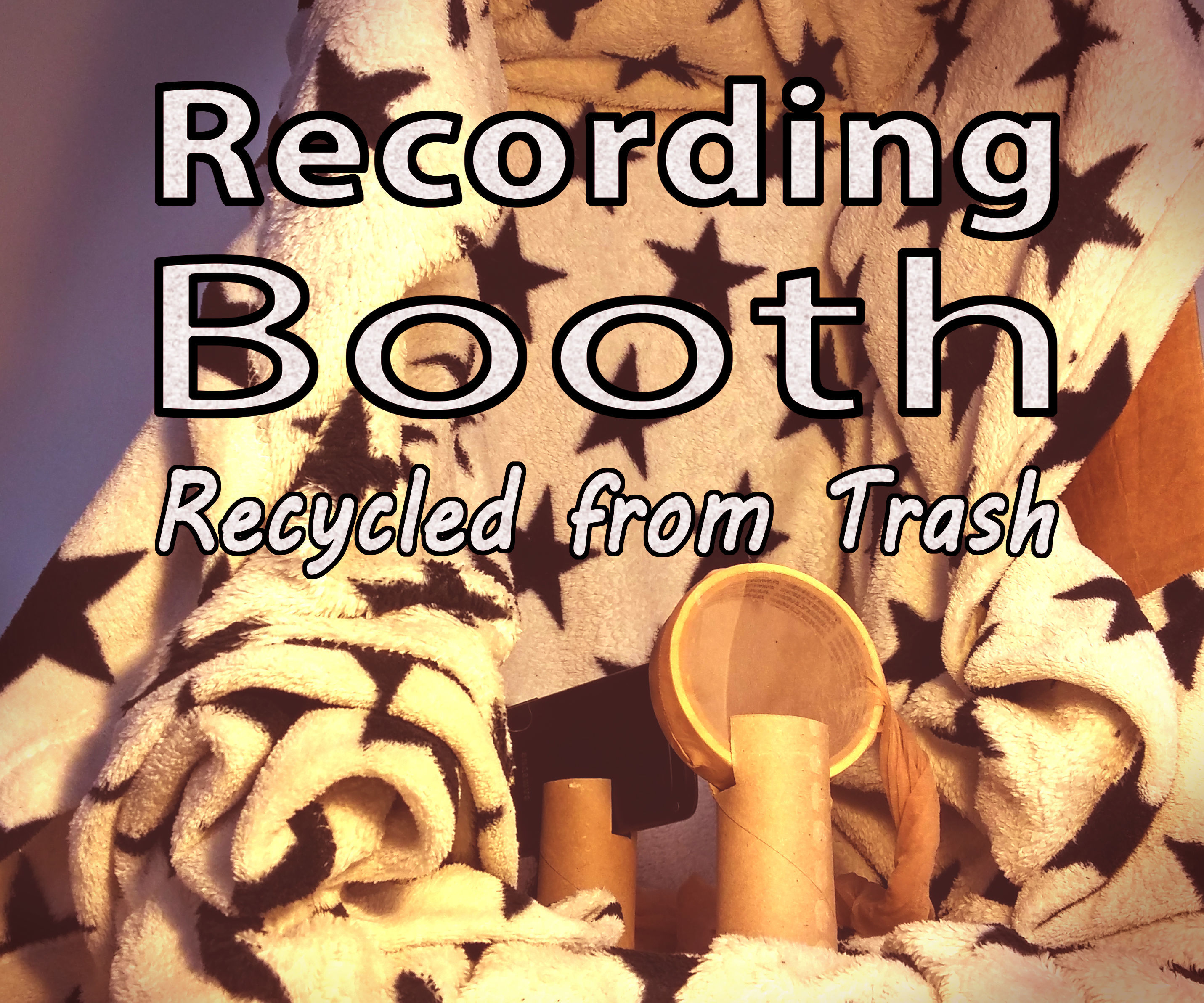 Audio Recording Booth from Trash