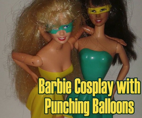 Barbie Cosplay With Punching Balloons