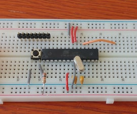 Standalone Arduino 3.3V W/ External 8 MHz Clock Being Programmed From Arduino Uno Through ICSP / ISP (with Serial Monitoring!)