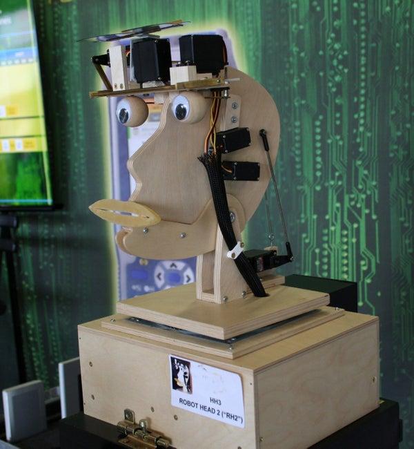 Talking Animatronic Robot Head