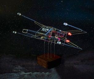 线框X-Wing时钟