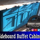 Painted Sideboard Buffet Cabinet From Plywood and Pine Boards