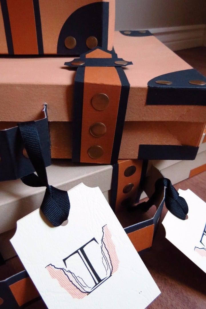 Make Paper Suitcase Favor Boxes
