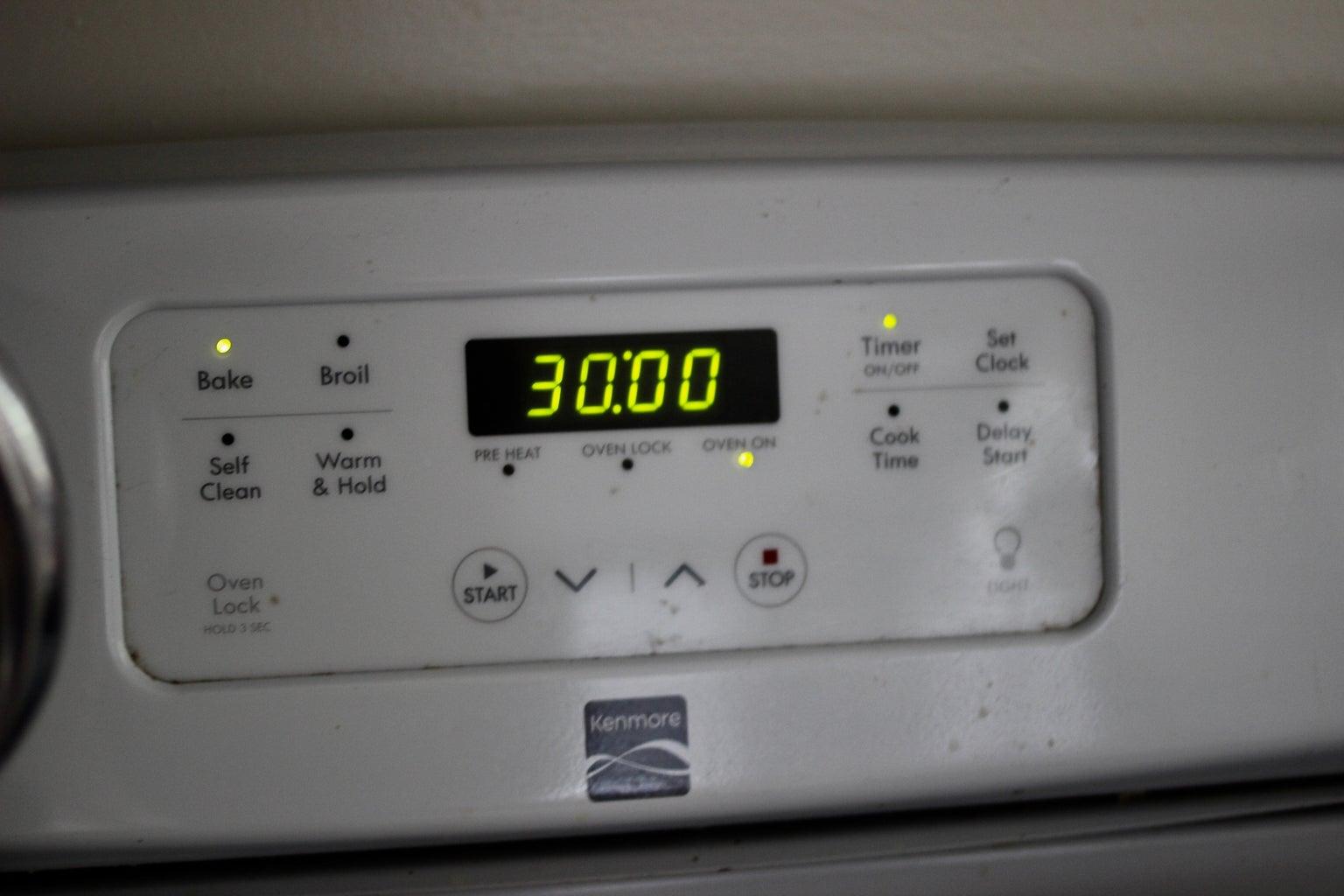 Set Timer for 30 Minutes