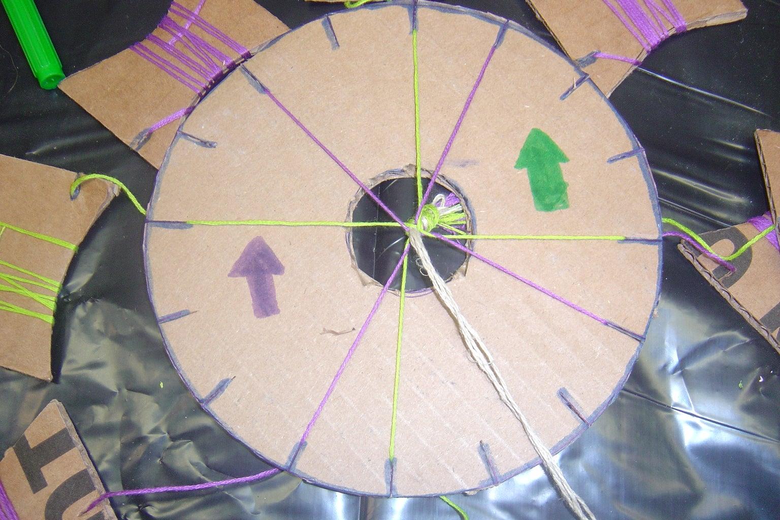 Making the Kimihimo Wheel & Bobbins