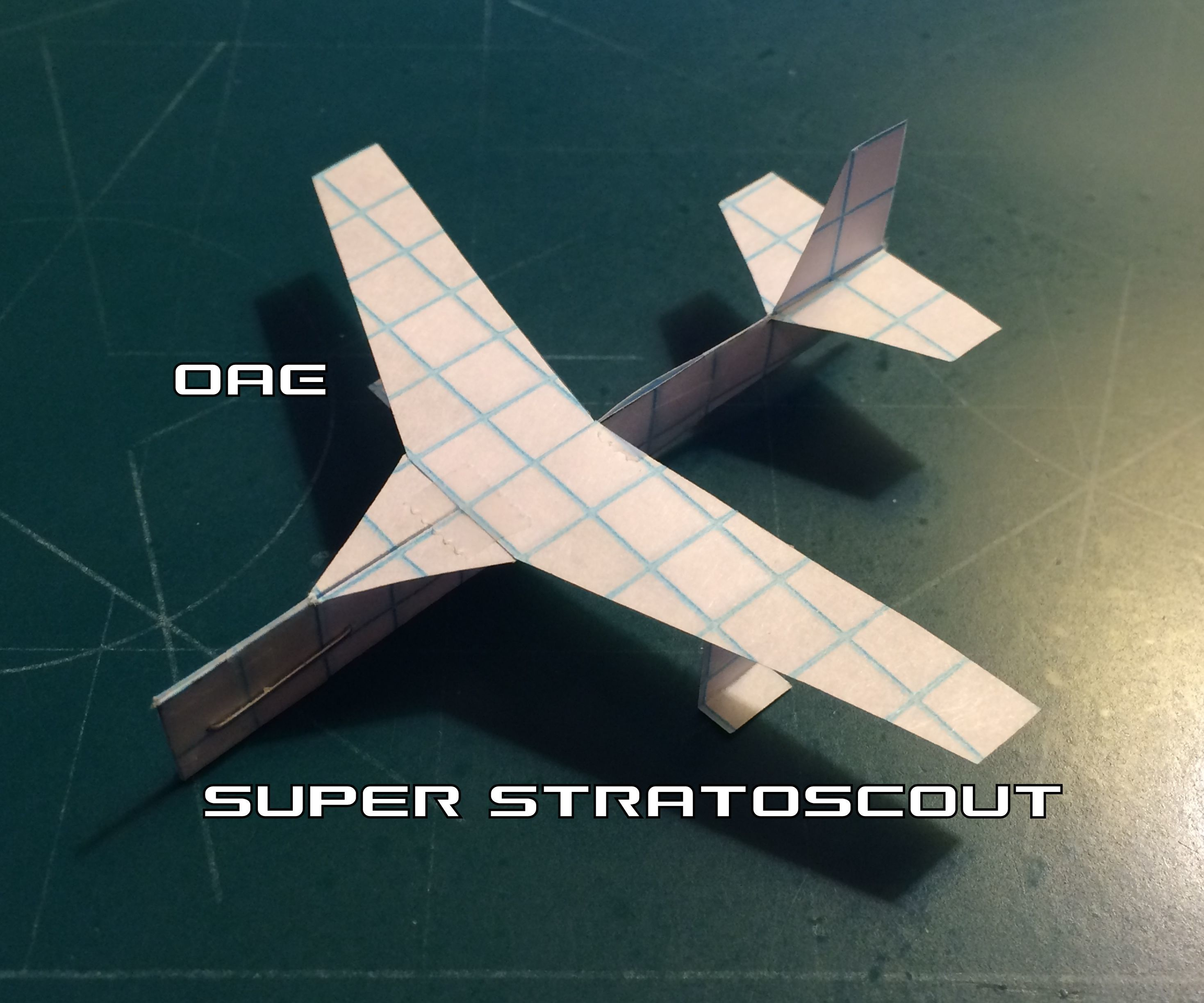 How To Make The Super StratoScout Paper Airplane
